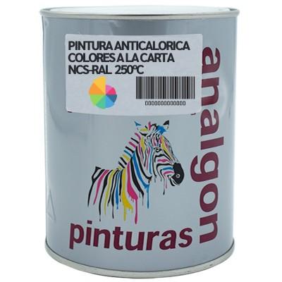 Pintura Anticalorica de 250ºC Colores a la Carta-RAL-NCS| Analgon