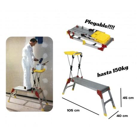 Plataforma de trabajo plegable de aluminio para pintores y profesionales