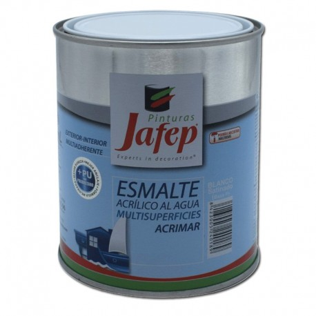 Esmalte al Agua Multisuperficies Blanco/Negro Satinado Acrimar