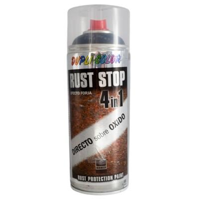 Pintura Spray Antióxido 4 en 1 Forja Plata o Negra 400 ml