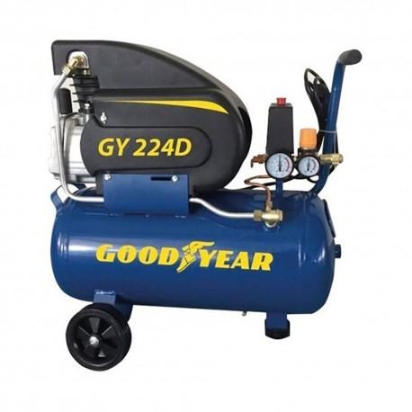 Compresor electrico 1.500w 2 hp 24 l goodyear gy224d