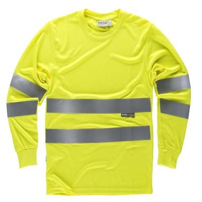 Camiseta Cuello Redondo Manga Larga con Certificado Alta Visibilidad