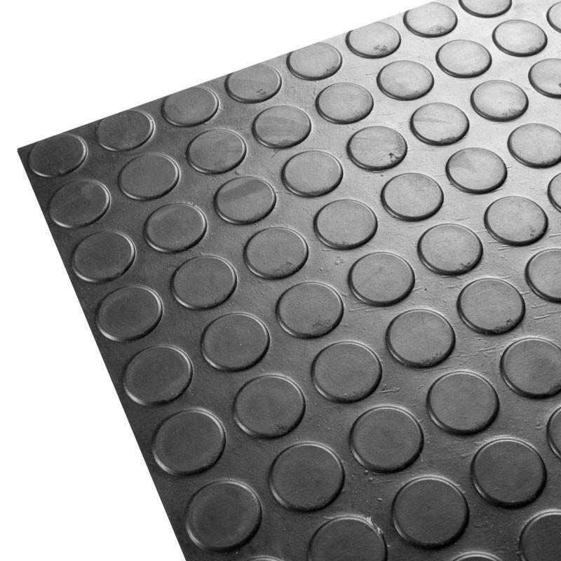 Suelo de goma rollo negro circulos por metros - Baldosas de goma ...