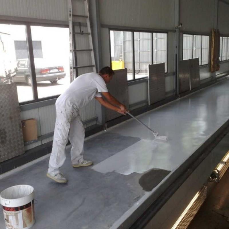 Pintura para suelos de clorocaucho color gris en 4 litros - Pintura pared gris ...