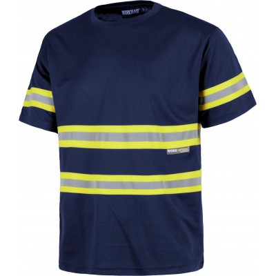 Camiseta con Cintas Reflectantes C3936 Workteam