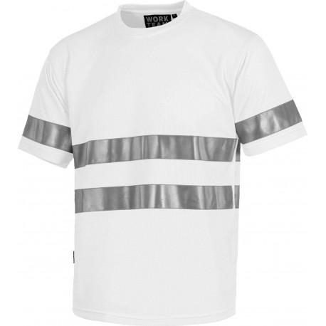 Camiseta con Cintas Reflectantes Varios Colores C3939 Workteam