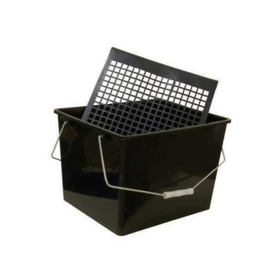 Cubeta de Plástico 16 Litros con Rejilla para Escurrir Rodillos