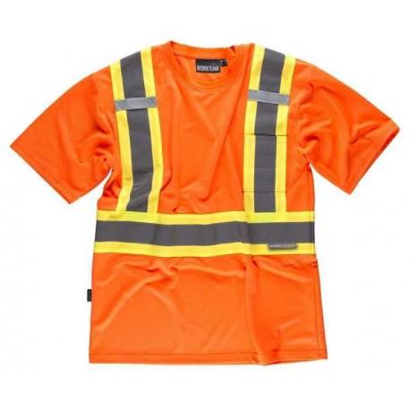 Camiseta de Trabajo Manga Corta Alta Visibilidad C3642 Workteam