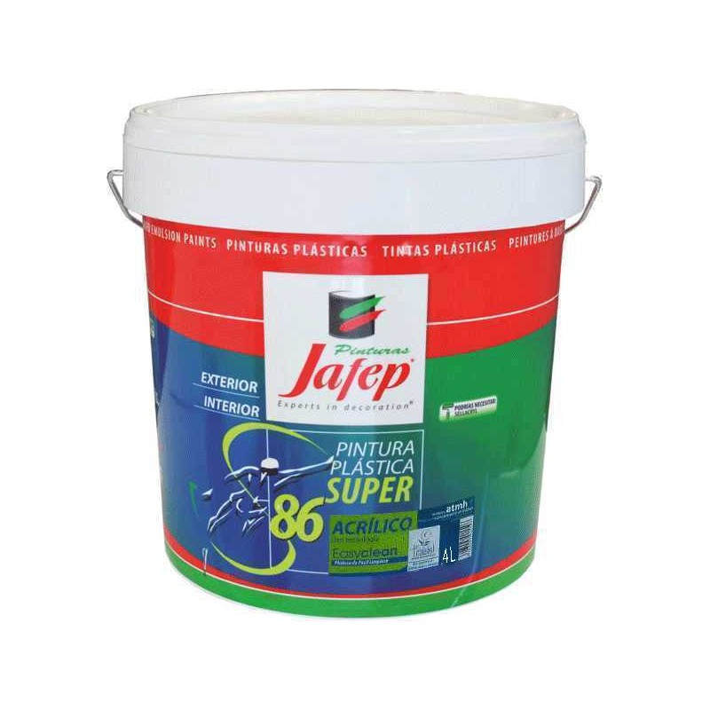 Pintura pl stica antimanchas 4 lt for Pintura plastica interior