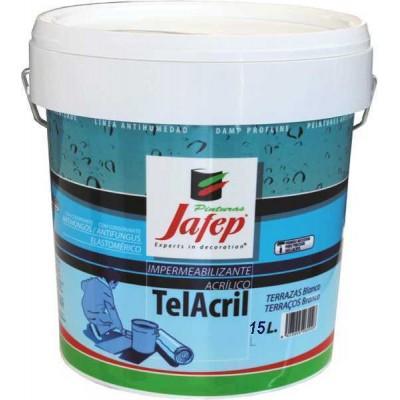 Pintura Impermeabilizante Aislante Elástico Blanco para Cubiertas no Transitables Telacril 15 Lt.