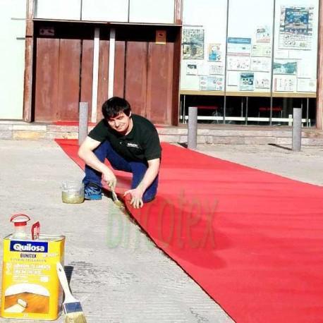 Rollo Moqueta/Alfombre Roja Ferial por Metros para Bodas y Eventos