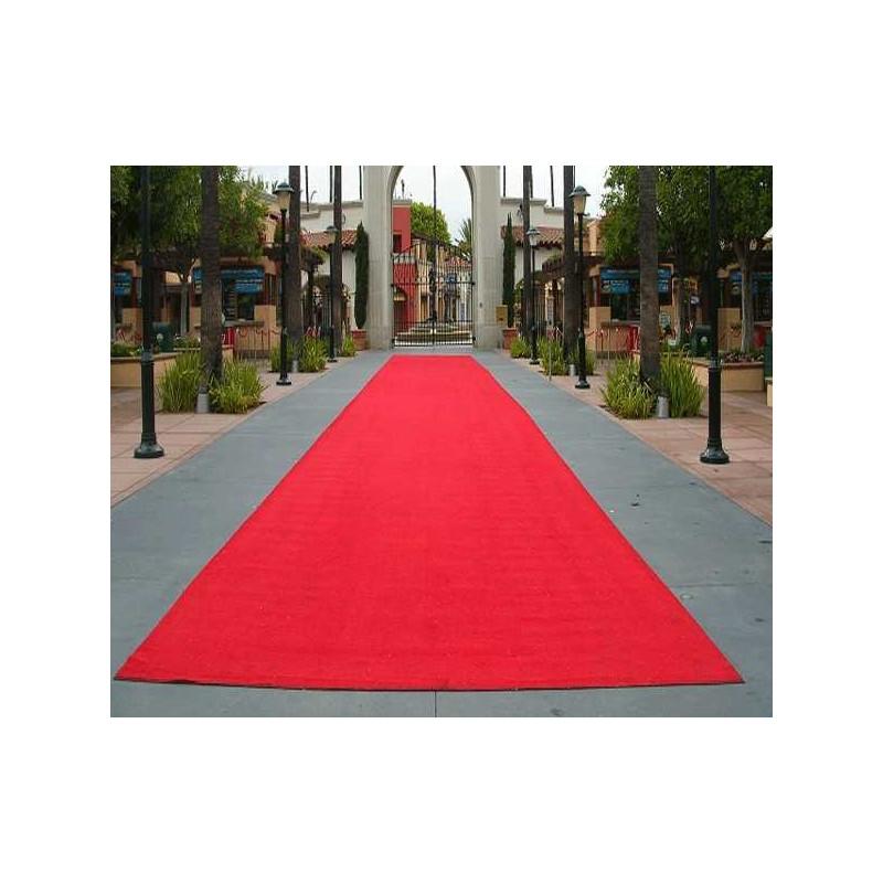 rollo moqueta alfombre roja ferial por metros para bodas y