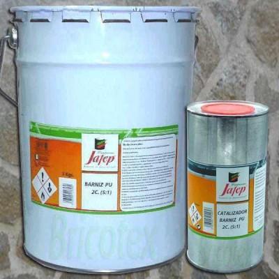 Barniz de Poliuretano Transparente y Brillante para Fachadas 5Kg. + Catalizador 1kg.