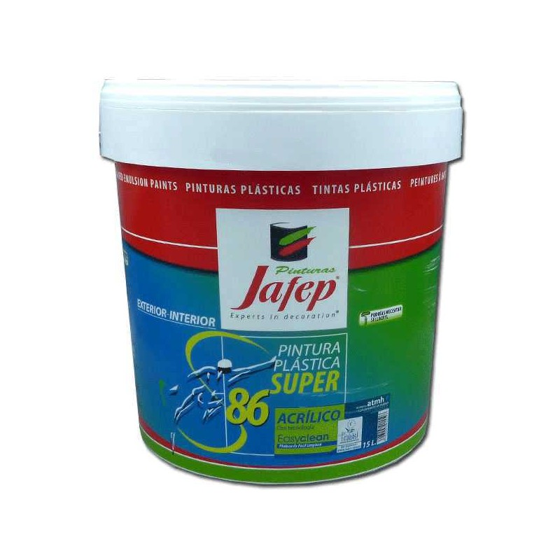 Pintura pl stica lavable para interiores super86 for Pintura plastica interior