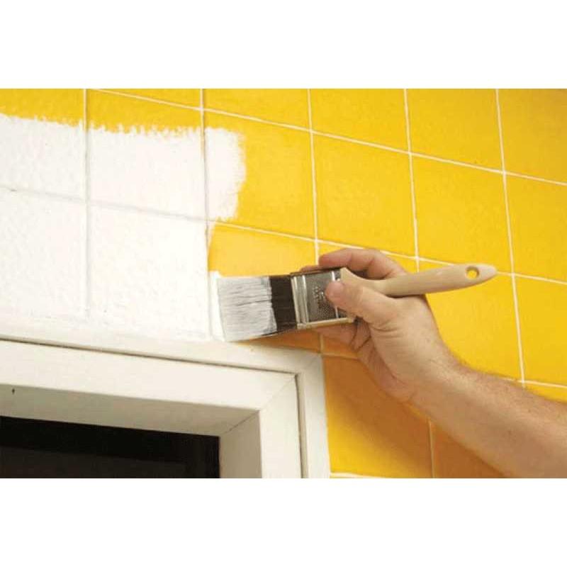 Pintura para azulejos de cocina y ba o blanco satinado for Azulejos bano y cocina