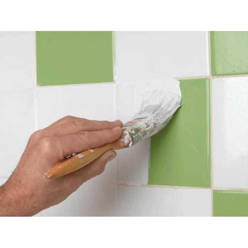 Pintura para azulejos de cocina y ba o blanco satinado - Pintura especial para banos ...