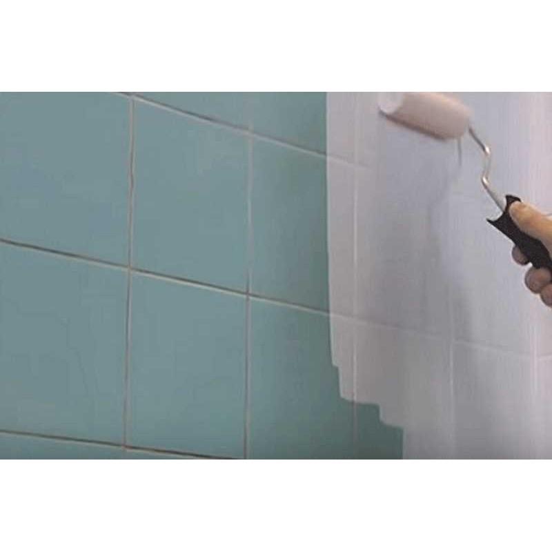 Pintura para azulejos de cocina y ba o blanco satinado - Pinturas para azulejos de cocina ...