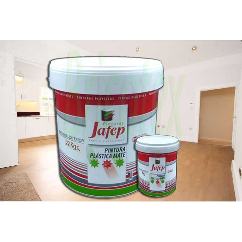 Pintura pl stica blanca mate interiores mate paredes y techos for Pintura plastica interior