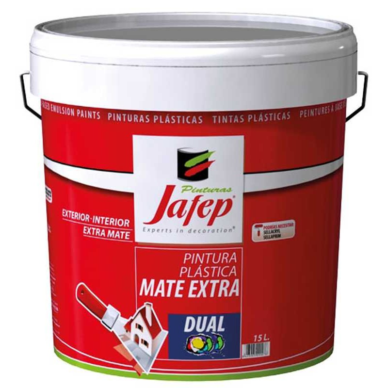 Pintura pl stica blanca mate extra interior exterior dual - Pintura plastica blanca ...