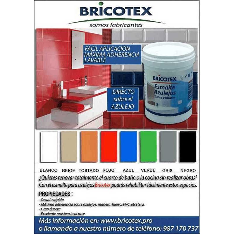 Pintura para azulejos de cocina y ba o satinado en colores bricotex - Pintura para azulejos de cocina ...
