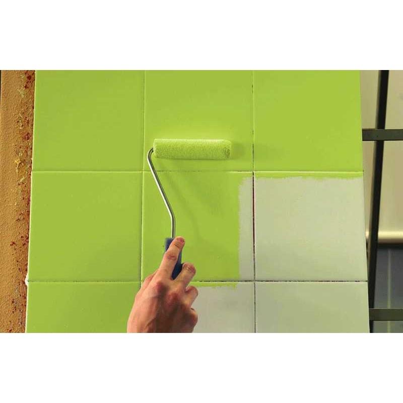 Pintura para azulejos de cocina y ba o satinado en colores bricotex - Colores pintura azulejos bano ...