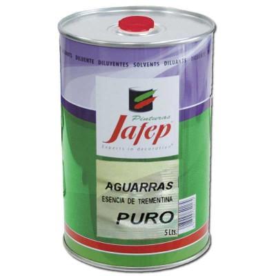 Aguarrás Puro (Esencia de trementina) en Lata 5 Lt. Jafep