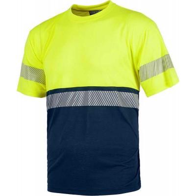 Camiseta de Trabajo Alta Visibilidad con Una Banda Reflectante