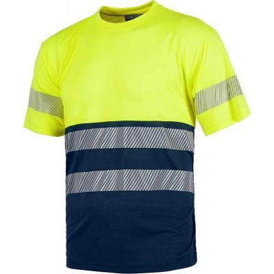 Camiseta de Trabajo Alta Visibilidad con Dos Bandas Reflectantes