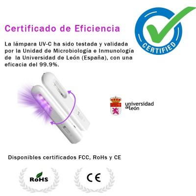 Lámpara Desinfectante LED Ultravioleta para todo tipo de superficies