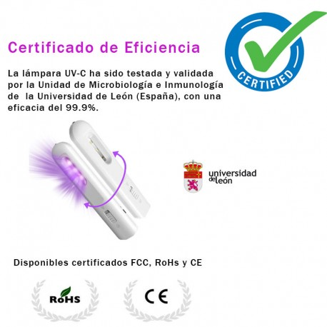 Lámpara Desinfectante LED Ultravioleta para todo tipo de superficies