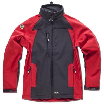 Chaqueta de forro polar con workshell roja verde S9040