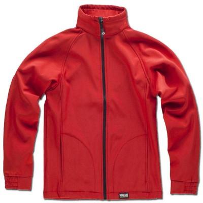 Cazadora forro polar con tejido Workshell negro/marino/rojo S9100