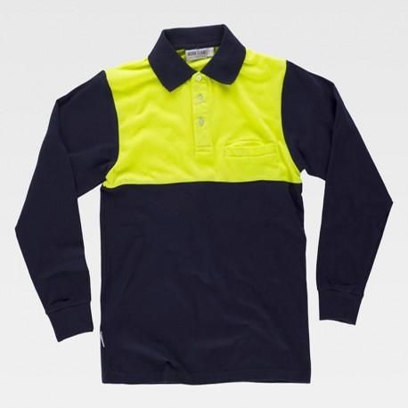 Camiseta Polo Manga Larga con Abertura en la Cintura