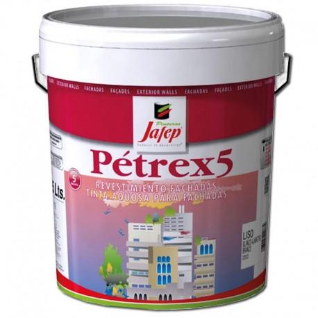 Pintura Plástica de Fachadas Alta Resistencia Petrex 5 Color Blanco