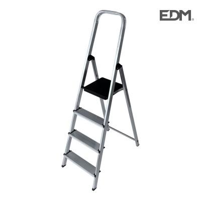 Escalera domestica aluminio 4 peldaños edm