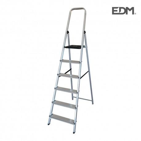 Escalera domestica aluminio 6 peldaños edm