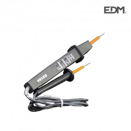 Comprobador de tension 110/230 v-400 v ac 150/300 v-500 v dc edm