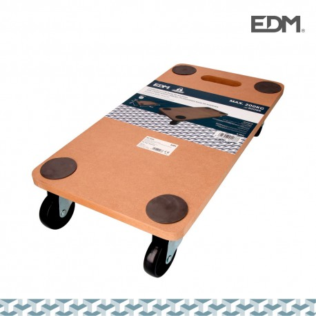 Carretilla con base de madera max. 200kg 58x30x12cm
