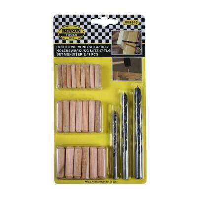 Set 47 piezas varias para madera
