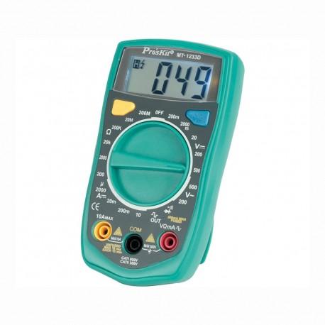 Multimetro digital mt-1233d