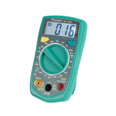 Multímetro digital 3 1/2 dígitos con test de temperatura proskit