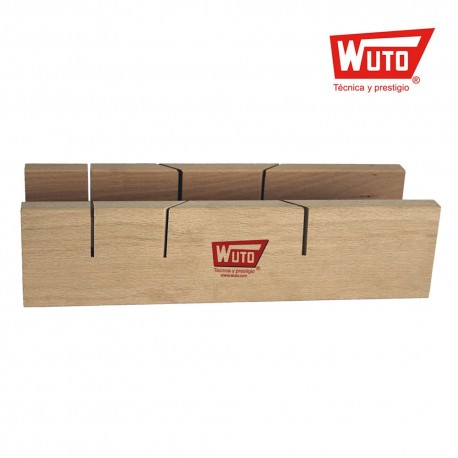 Corta ingletes doble con soporte 300x65mm wuto