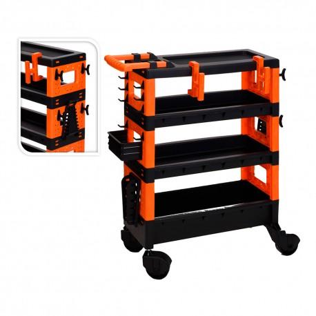 Carro transporte herramientas 68x35x87.5cm fx tools