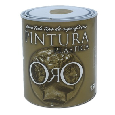 Pintura Plástica al Agua Oro/Plata Metalizado