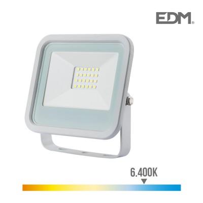 Foco proyector led 20w 1400 lm 6400k luz fria edm