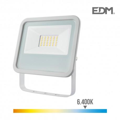 Foco proyector led 30w 2100 lm 6400k luz fria edm