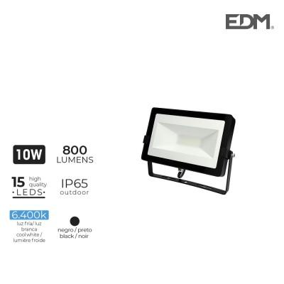 Foco proyector led 10w 6400k 800 lumens edm