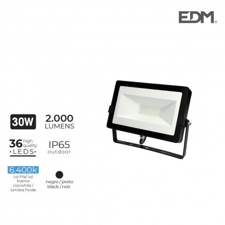 Foco proyector led 30w 6400k 2000 lumens edm