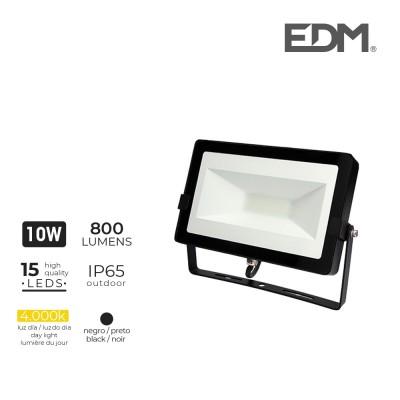 Foco proyector led 10w 4000k 800 lumens edm