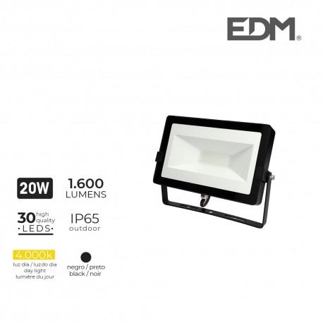 Foco proyector led 20w 4000k 1600 lumens edm